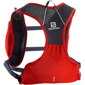 Salomon Agile 2 Backpack Set fiery red/graphite